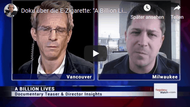 "Docu about the e-cigarette: ""A Billion Lives"""